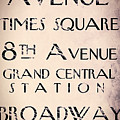 New York City Street Sign by Mindy Sommers