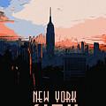 New York City Sunset by Andrea Mazzocchetti