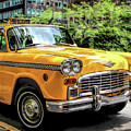 New York City Yellow Checker Taxicab by Christopher Arndt