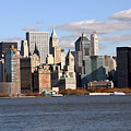 New York From Ferry by Mary Haber