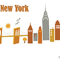 New York Horizontal Scene - Brooklyn Bridge by Karen Young