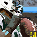 New York Jets Football Team And Original Yellow Typography by Drawspots Illustrations