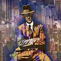 New York Man Seated City Background 1 by Tony Rubino