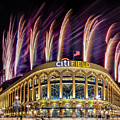 New York Mets Citi Field Fireworks by Susan Candelario