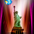 New York Nyc - Statue Of Liberty 2 by Walter Zettl
