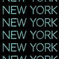 New York - Pale Blue On Black Background by LogCabinCottage