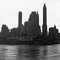 New York Silhouette At Dusk by Underwood Archives