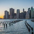 New York Skyline At Sunset by Jesse MacDonald