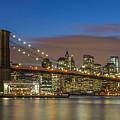 New York Skyline - Brooklyn Bridge - 4 by Christian Tuk