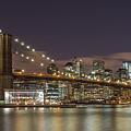 New York Skyline - Brooklyn Bridge - 6 by Christian Tuk