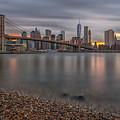 New York Skyline - Brooklyn Bridge - 9 by Christian Tuk