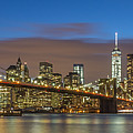 New York Skyline - Brooklyn Bridge Panorama - 2 by Christian Tuk