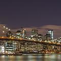 New York Skyline - Brooklyn Bridge Panorama - 3 by Christian Tuk