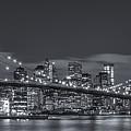 New York Skyline - Brooklyn Bridge Panorama - 4 by Christian Tuk