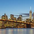New York Skyline - Brooklyn Bridge Panorama by Christian Tuk
