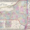 New York State 1867 Map by Movie Poster Prints
