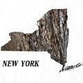 New York State Map by Enki Art