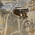 New York Trolley Vintage Photo Collage by Karla Beatty