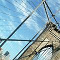 New York Usa  Brooklyn Bridge Towards Manhattan. by Richard Wareham