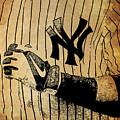 New York Yankees Baseball Team Vintage Card by Drawspots Illustrations