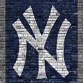 New York Yankees Brick Wall by Joe Hamilton