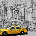 New York Yellow Cab by Drawspots Illustrations