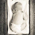 Newborn Baby In Crate Filtered by Tim Hester