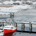 Newburyport In Winter Triptych 2 by Rick Mosher