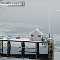 Newburyport In Winter Triptych 3 by Rick Mosher