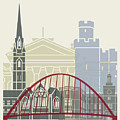 Newcastle Skyline Poster by Pablo Romero