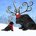 Newfie Reindeer by Christine Mullis