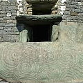 Newgrange Entrance by Val Byrne