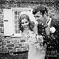 Newlyweds Showered With Rice, C.1960-70s by H. Armstrong Roberts/ClassicStock