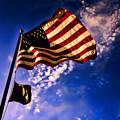 Newport Beach Sunset On Old Glory by Tommy Anderson