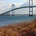 Newport Bridge Newport Rhode Island by Mike Nellums