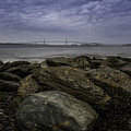 Newport Bridge Under Dramatic Sky by DAC Photography