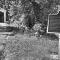Newport Covered Bridge Sign Black And White by Adam Jewell