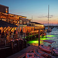 Newport Ri Waterfrom At Dusk Newport Ri Waterfront Nightlife by Toby McGuire