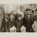 Newsboys Selling On Main Street In The Afternoon Hours. by Celestial Images