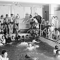 Newsboys Swimming 1900s by Science Source