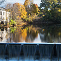 Newton Upper Falls Autumn Waterfall Reflection by Toby McGuire