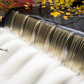 Newton Upper Falls Autumn Waterfall by Toby McGuire