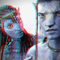 Neytiri And Jake Sully - Use Red-cyan 3d Glasses by Brian Wallace