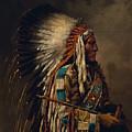 Nez Perce Chief by Edgar S Paxson