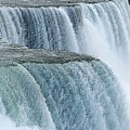 Niagara Falls Closeup Charcoal Effect by Rose Santuci-Sofranko