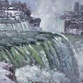 Niagara Falls In Winter  by Ylli Haruni