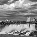 Niagara Falls - The American Side 3 Bw by Steve Harrington