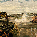 Niagara Falls With Rainbow, 1860 by Wellcome Images