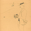 Nib Or The Amateur Photographer (nib Ou Le Photographe-amateur) [right Recto] by Henri De Toulouse-lautrec