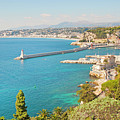Nice Coastline And Harbour, France by John Harper